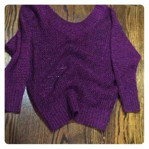 Express purple and black sweater